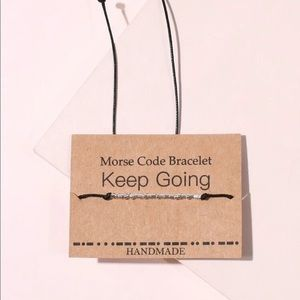 "Jewelry - 🆕 "" Keep Going "" Morse Code Bracelet"